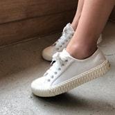 【韩国直邮】CHERRYKOKO 休闲简约运动鞋 白色 37