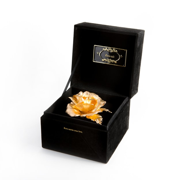 Product Detail - FLORA\'S OATH I.S. Commitments 1 Golden Rose in Black Box - image 0