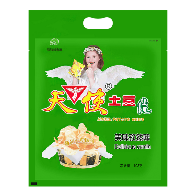 Product Detail - ANGEL Potato Chips-Cumin Flavor 108g - image 0