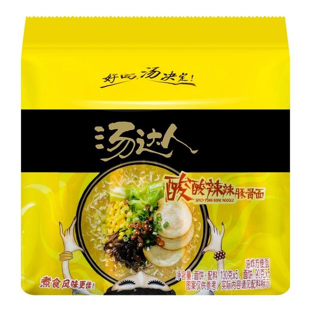商品详情 - 台湾统一 汤达人 五连包 酸酸辣辣豚骨面 650g 包装随机发送 - image  0