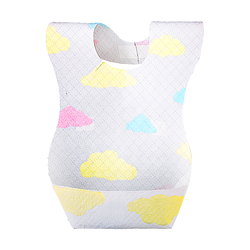 JIANROU One Time Use Disposable Baby Bib 20 Sheets