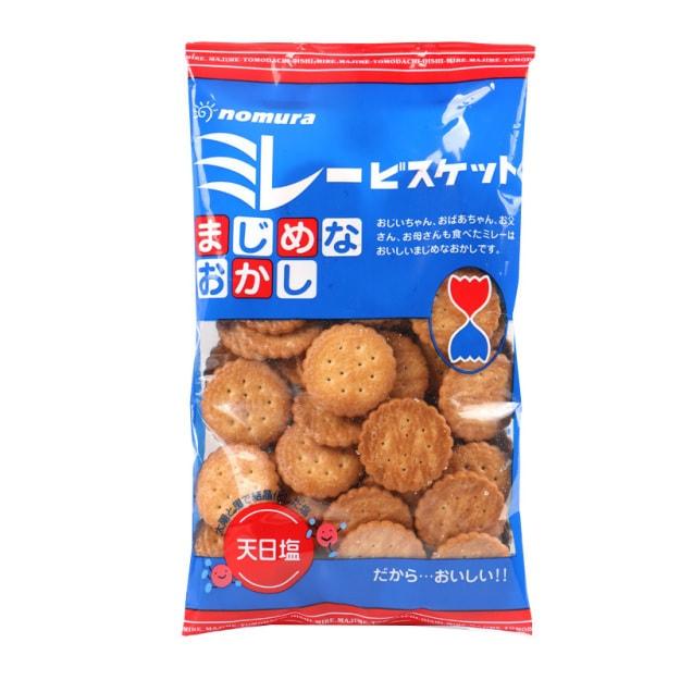 Product Detail - Japan Nomura Biscuits Light Salt Flavor Miller Crisp Small Round Cake Casual Snacks 130g - image 0