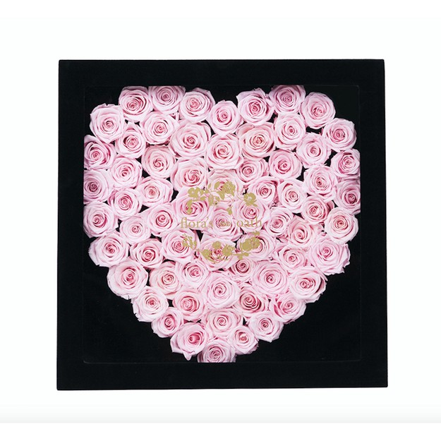 Product Detail - FLORA\'S OATH Eternal roses A.D. Shyness heart-shaped rose in black box - image 0