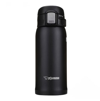 ZOJIRUSHI One Touch Stainless Steel Vacuum Thermal Bottle Black 360ml SM-SA36BA