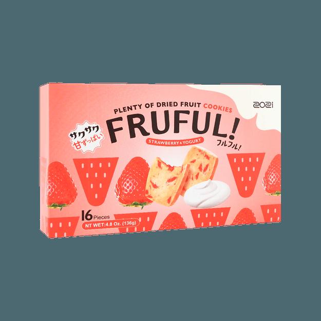 商品详情 - 【网红新品】ZOZI 缤果黄油曲奇 草莓酸奶味  真实果肉添加 136g - image  0