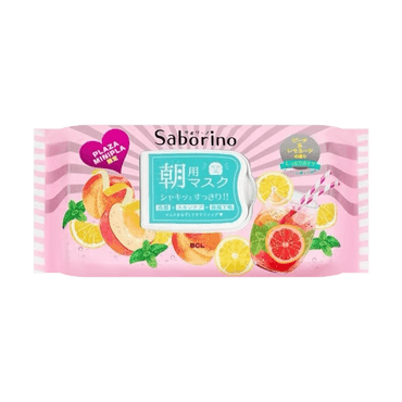 BCL SABORINO Morning Mask Fresh Peach  (28pcs)