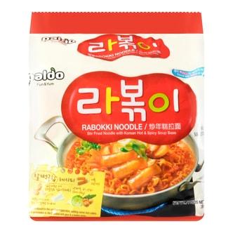 韩国PALDO八道 八道辣炒年糕拉面 4包入 580g
