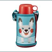 【日本直邮】日本 TIGER 虎牌儿童保温杯/直饮双盖 MBR-A06GAR 小萌兔 便携学生水杯(直饮盖+保温盖) 600ml