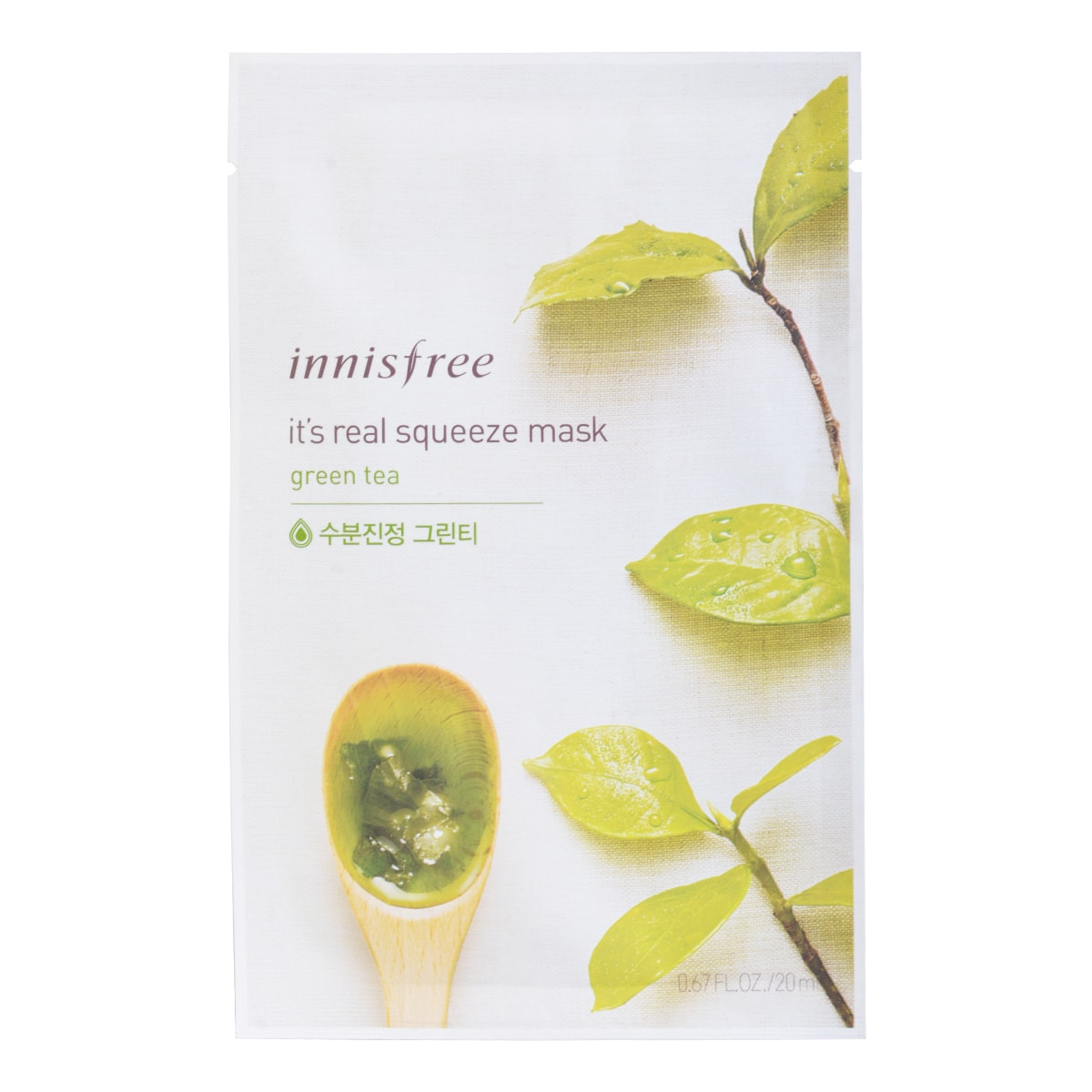 Innisfree Its Real Squeeze Mask Green Tea 1sheet Lime