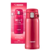 ZOJIRUSHI One Touch Stainless Steel Vacuum Thermal Bottle Red 360ml SM-SA36RW