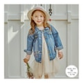 MODELAMI Kid Girl Floral Embroidered Denim Jacket #Denim 11(6-7years)