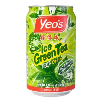新加坡YEO'S杨协成 无添加冰爽茉莉绿茶 罐装 300ml