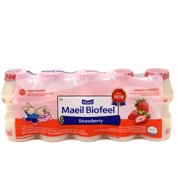 商品详情 - Boisson Maeil Biofeel 草莓味益生菌饮料 5*80ml - image  0