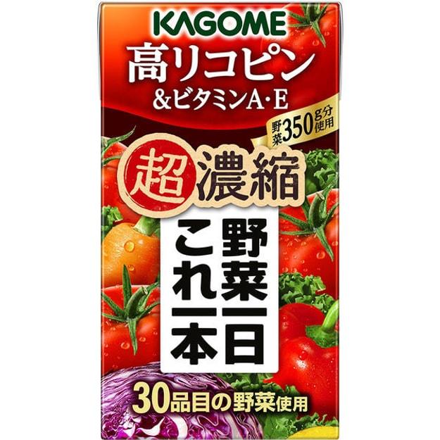 商品详情 - 【日本直邮】KAGOME可果美 超浓缩 高番茄红素和维他命A.E 30种蔬菜维生素补给果汁 125ml - image  0
