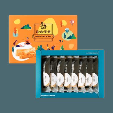 【短保产品 最佳期限2020-12-12】【必入伴手礼】台湾青泽 酱心蛋卷 芝麻口味 200g