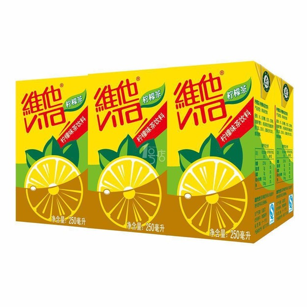 商品详情 - 香港VITA维他 柠檬茶 250ml 6支装 - image  0