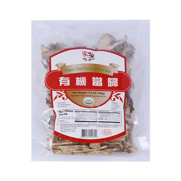 Product Detail - BIG GREEN Organic Dried Dong Quai Root Slice 100g - image 0
