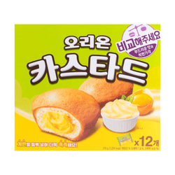 ORION Custard Soft Cup Cake Cream and Egg Yolk Filling 12Packs