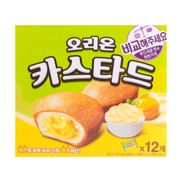 ORION Custard Soft Cup Cake Cream and Egg Yolk Filling 12Packs