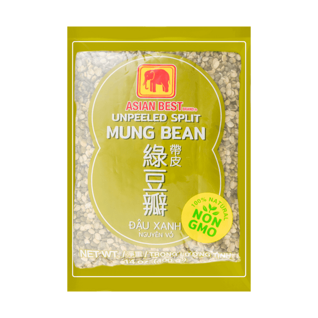 ASIAN BEST Unpeeled Split Mung Bean (Premium) 400g