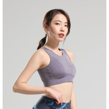 RUNNING STONE Seamless Ventilated Sports Bra Bean paste purple M