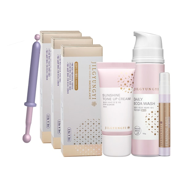 Product Detail - JILGYUNGYI Innerbalance 3boxes+Sunshine Tone Up Cream 25ml+Daily Ecoa Foam Wash 150g+Femine Mist 15ml - image 0