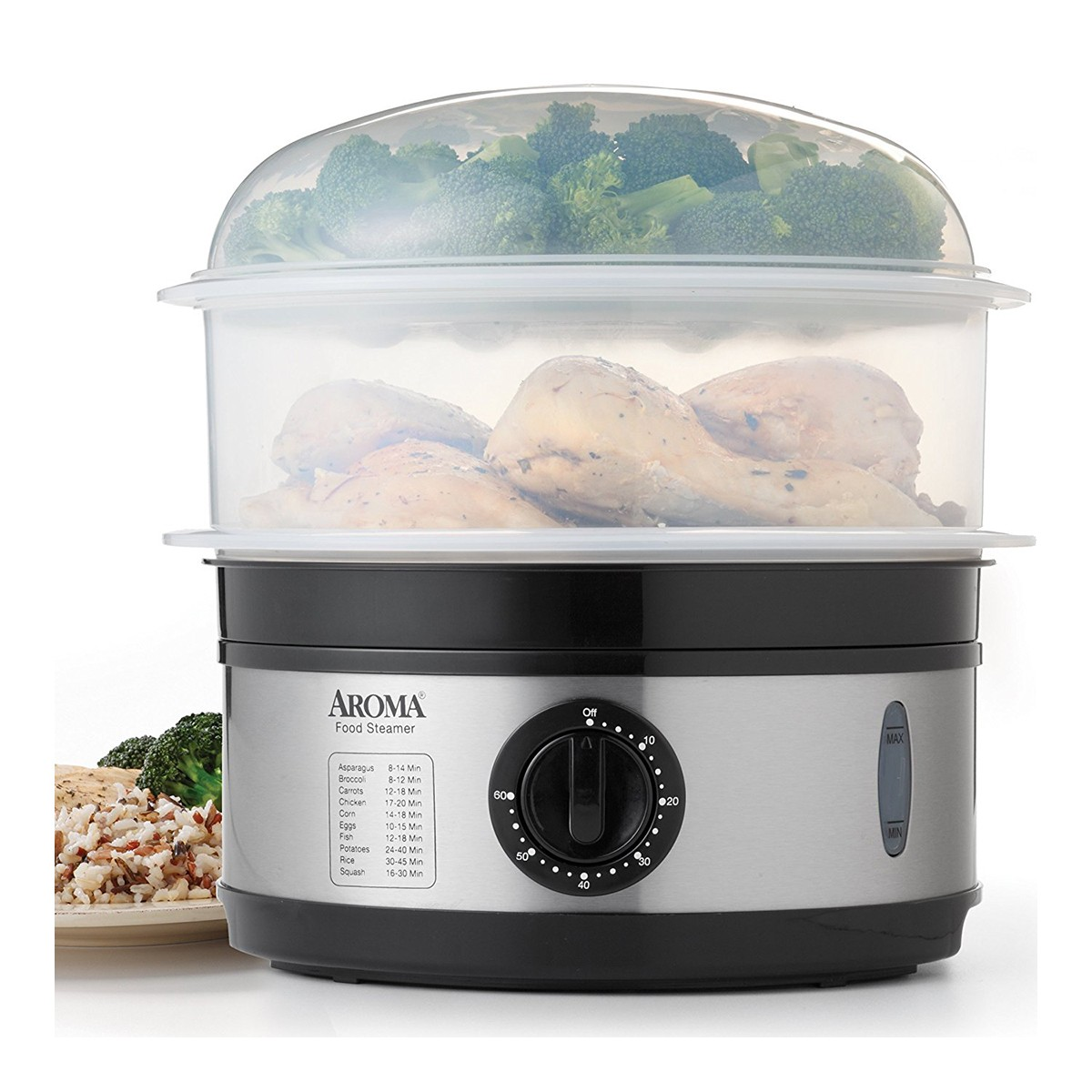 Yamibuy.com:Customer reviews:AROMA 5-Qt Stainless Steel Food Steamer AFS-186 (2 Year Manufacturer Warranty)