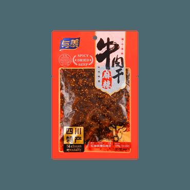 与美 红油牛肉干 麻辣味 100g USDA认证