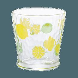 ISHIZUKA GLASS 石塚硝子||可爱水果图案玻璃杯||柠檬 1个