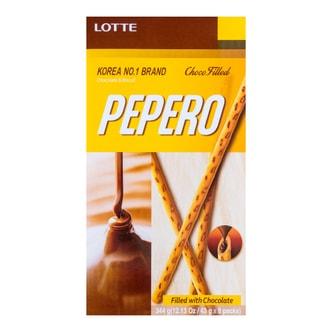 韩国LOTTE乐天 PEPERO注心巧克力棒 8盒入 344g