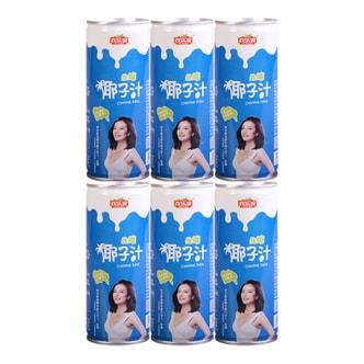 欢乐家 椰子汁 椰子汁植物蛋白饮料 6罐装 245ml