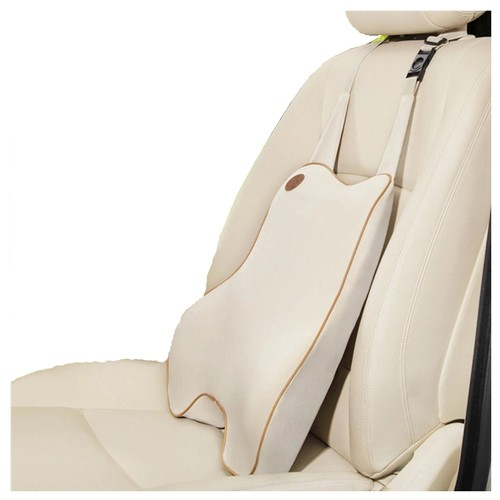 LORDUPHOLD Car Seat Cushion Memory Foam Massage Lumbar Support Pillow Accessories Beige 1