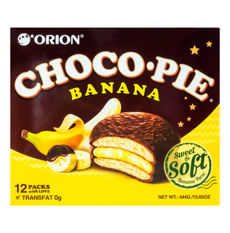 ORION Choco Pie Banana 12pcs   444g
