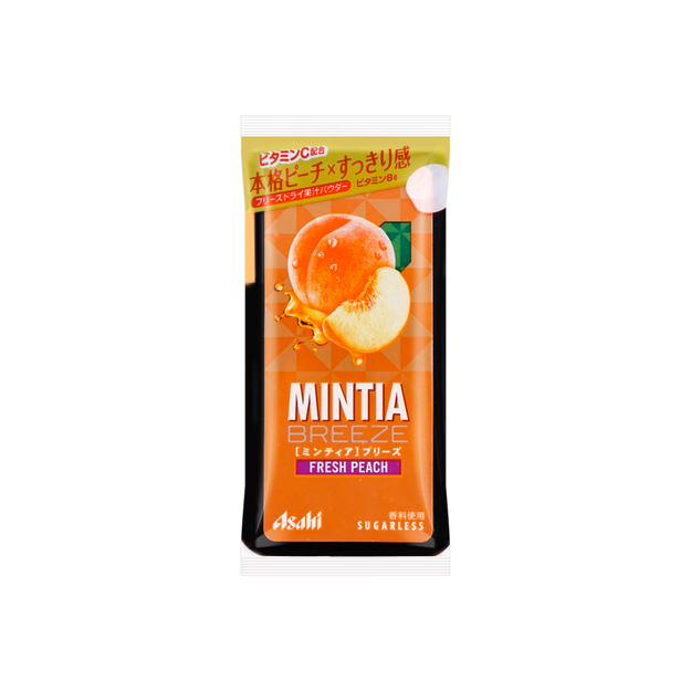 商品详情 - 日本ASAHI朝日 薄荷润喉糖 MINTIA大颗粒 水蜜桃口味 30粒 - image  0