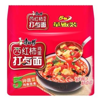 康师傅 西红柿打卤面 量贩装 5包入 101g×5包