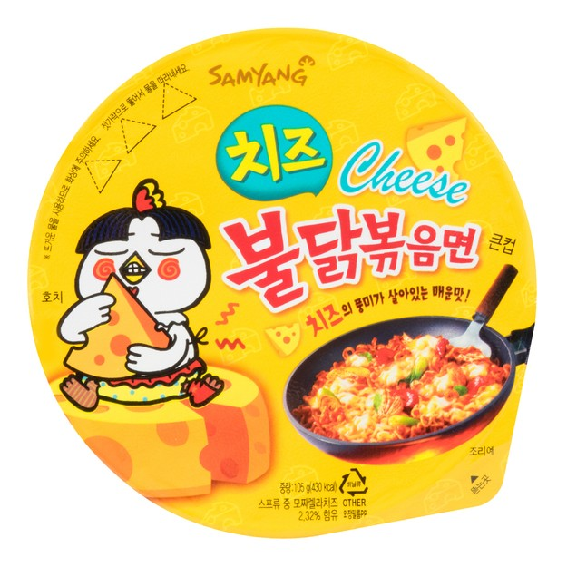 Product Detail - SAMYANG Stir-Fried Noodle Hot Spicy Chicken Cheese Flavor Ramen  Big Bowl 105g - image 0
