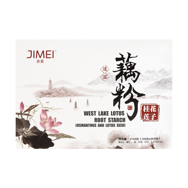 Product Detail - JIMEI West Lake Lotus Root Starch Osmanthus and Lotus Seed 240g - image 0