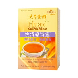 PRINCE GOLD Fluaid -- Oral Pain Reliever 10Tea Bags