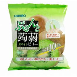 ORIHIRO 低卡高纤蒟蒻果冻 奇异果味 6枚入 120g