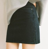 CHERRYKOKO straight skirt darkgray S