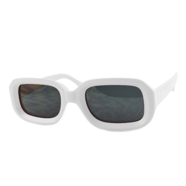 Product Detail - RETRO POP Fashion Sunglasses 7442 White Frame/Grey Lens - image  0