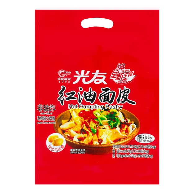 Product Detail - GUANGYOU Hot Dumpling Pastry Hot & Sour 4Packs 400g - image 0