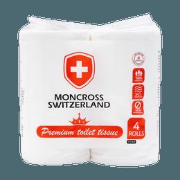 Korean Moncross Premium toilet tissue 3ply 4 rolls
