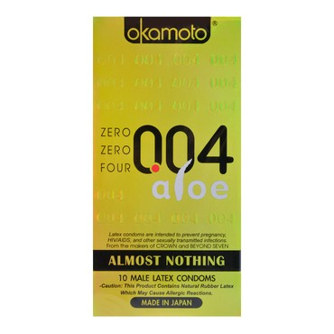 【New】Adult toy OKAMOTO 004 condom aloe 10pcs