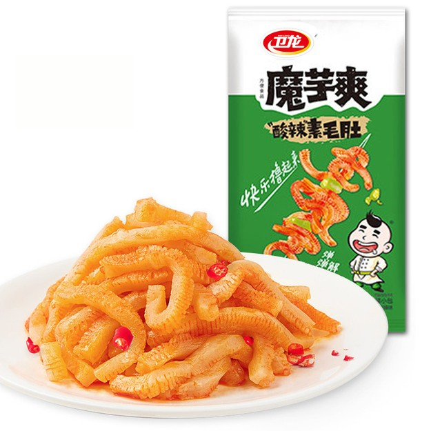 Product Detail - WEILONG  snack vegetarian hairy tummy konjac cool pickled pepper taste 18g * 20 packets - image 0