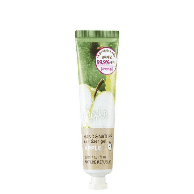 Product Detail - Nature Republic HAND & NATURE SANITIZER GEL (TUBE)  54.72% Alcohol 99.9% of excellent sanitizing effect  30ml Apple - image 0
