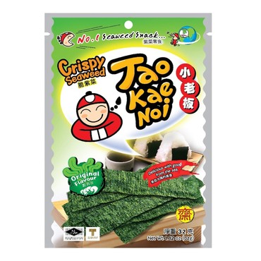 TAO KAE NOI Super Crispy Grilled Seaweed 32g (Packaging May Vary from Pic)