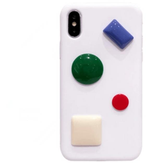 商品详情 - [中国直邮]  乐学办公  LEARN&WORK 网红同款 立体硅胶软壳苹果手机壳 款式 白色 适用于iPhoneX - image  0