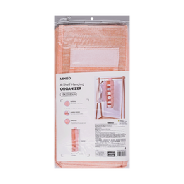 Miniso 6-Shelf Hanging Organizer #Pink