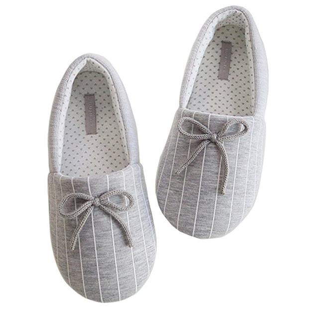 商品详情 - Premium Down 透气针织新疆棉抗菌防滑橡胶软底拖鞋 - image  0